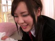 Young Yui Uehara receives a long dick up her cunt