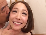 Shino Akane gives head after a spicy cunnilingus