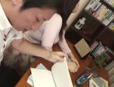 Amazing Japanese gal is licked and pounded in a doggystyle
