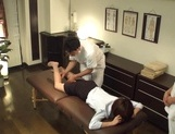 Two horny masseurs give a special sexual treatment