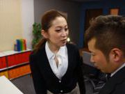 Stunning office milf Asami Ogawa enjoys every inch of cock