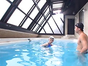 Ayu Namiki and partner in wild fucking porn video