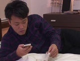 Inoue Hitomi gets a creampie after a shag