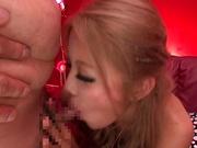 Facial ends Arisa Takimoto's filthy Asian porn show in POV