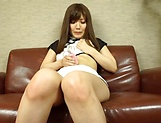 Saki Mizumi solo spicy session with sex toys picture 13