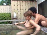 Outdoor action with Risa Uchida enjoying pussy stimulation