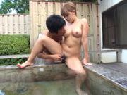 Outdoor action with Risa Uchida enjoying pussy stimulation