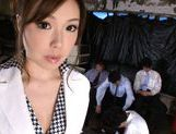 Aiko Hirose Japanese babe mastubates before riding cock picture 1
