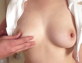 Awesome Asian brunette giving a sweet handjob picture 12
