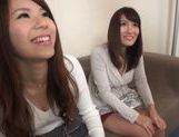 Japanese AV models getting their pussies fingered picture 12