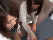 Japanese AV models getting their pussies fingered