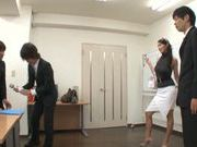Reiko Kobayakawa big boobed Japanese model gives double blowjob