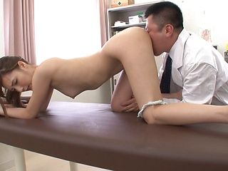 Skinny milf Kaede Fuyutsuki gets her pink pussy fingered and banged