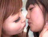 Sweet lesbian show with naughty Asian teen Rina Kato picture 4