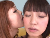 Sweet lesbian show with naughty Asian teen Rina Kato picture 8