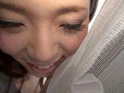 Rear fuck for horny babe Natsumi Shiraishi