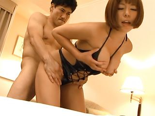 Milf with amazing body, Sara Saijou is fucked in serious modes