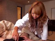 Creamed pussy for filthy Asian blonde Chika Kitano