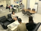 Busty office lady Hibiki Ootsuki fucked roughly in a doggystyle