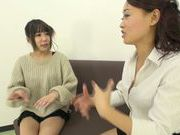 Japanese AV Models with bubble asses get lesbian experience