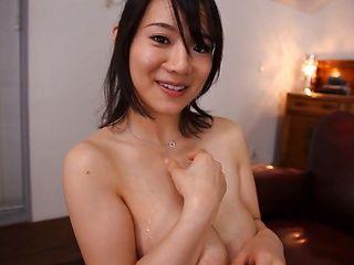 Innocent looking milf Kaho Shibuya shows off her big boobs gets them fucked