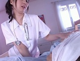 Horny nurse in white pantyhose Yui Tatsumi gives a wild riding picture 13