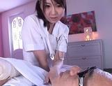 Horny nurse in white pantyhose Yui Tatsumi gives a wild riding