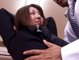 Sexy female teacher Yui Tatsumi gets banged hard by her boss picture 10