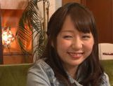 Naughty Japanese seductress Chika Haruno is teased by two guys