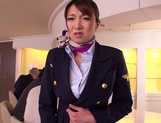 Gorgeous stewardess Mio Takahashi rides impressive dicks picture 10