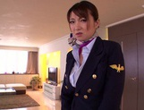 Gorgeous stewardess Mio Takahashi rides impressive dicks picture 3