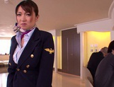 Gorgeous stewardess Mio Takahashi rides impressive dicks picture 4