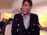 Gorgeous stewardess Mio Takahashi rides impressive dicks picture 5