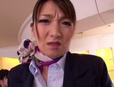 Gorgeous stewardess Mio Takahashi rides impressive dicks picture 7