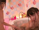 Yummy babes Kana Aono and Minami Hirahara ride cock picture 7