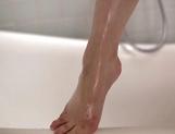 Hot Asian office lady, Reiko Asahina takes a sensual shower