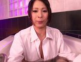 Attractive Asian milf Minami Ayase adores hard titfuck action picture 7