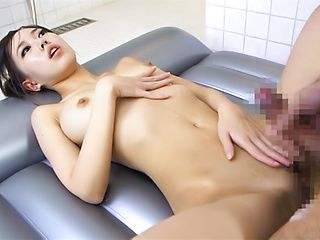Slender busty hottie Shiori Yamate teases her boyfriend and rides his cock