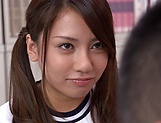 Mei Matsumoto takes down panties for a horny teacher picture 12