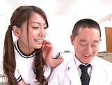 Mei Matsumoto takes down panties for a horny teacher picture 15