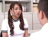 Mei Matsumoto takes down panties for a horny teacher