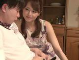 Cock-starved housewife Akiho Yoshizawa jerks off dick picture 12
