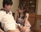 Cock-starved housewife Akiho Yoshizawa jerks off dick picture 13