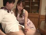 Cock-starved housewife Akiho Yoshizawa jerks off dick picture 14