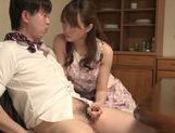 Cock-starved housewife Akiho Yoshizawa jerks off dick picture 15