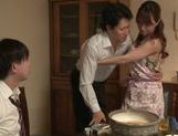 Cock-starved housewife Akiho Yoshizawa jerks off dick picture 2