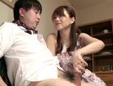 Cock-starved housewife Akiho Yoshizawa jerks off dickasian pussy, japanese sex, horny asian}