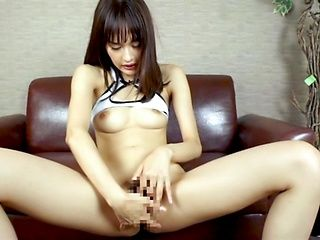 Solo masturbation porn show with young Asian young Anju