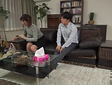 Harsh fuck on the couch with young Asian, Hitomi Inoue picture 12