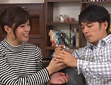 Harsh fuck on the couch with young Asian, Hitomi Inoue picture 13